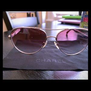 Chanel purple aviators